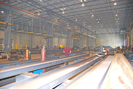 manufacturing facility of Decconek, the solution to attaching deck ledger boards to brick